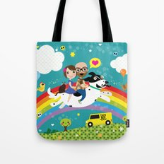 Rick and Ellen Fly to the Taco Bus Tote Bag