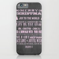 Pink Christmas Chalkboar… iPhone 6 Slim Case