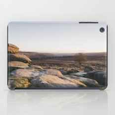 Owler Tor rock formations at sunset. Derbyshire, UK. iPad Case