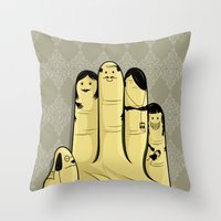 The Finger Family Throw Pillow