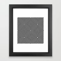 Chevron Diamond ///www.p… Framed Art Print