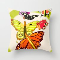 Bullet With Butterfly Wi… Throw Pillow