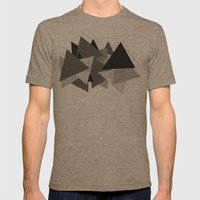 Triangle Grey Mens Fitted Tee Tri-Coffee SMALL