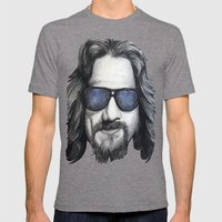 The Dude Lebowski Mens Fitted Tee Tri-Grey SMALL
