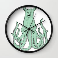 Octobear Wall Clock