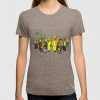 Breaking Bad cast Womens Fitted Tee Tri-Coffee SMALL