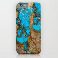 Turquoise Gemstone Blue iPhone 6 Slim Case