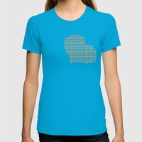 Breakfast Pattern Womens Fitted Tee Teal SMALL