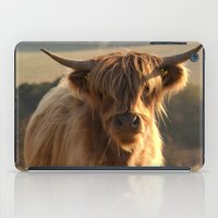 Young Highland Cow iPad Case