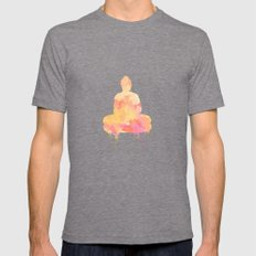 Buddha art illustration watercolor Mens Fitted Tee Tri-Grey SMALL