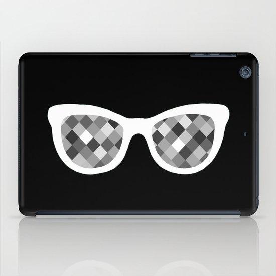 Diamond Eyes White on Black iPad Case