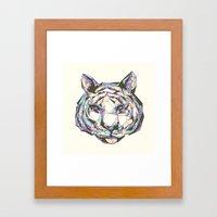 Crystal Tiger Framed Art Print