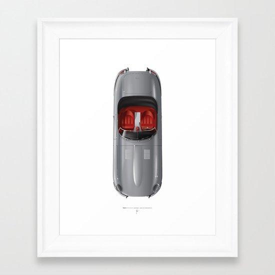 Classic Series N.º1, Jaguar E Framed Art Print