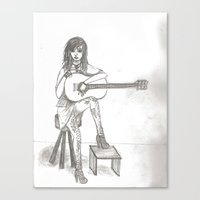 Now If Only I Could Play Guitar (sketch) Canvas Print