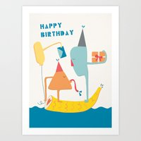happy birthday Art Prints featuring Happy Birthday by xuan xuan