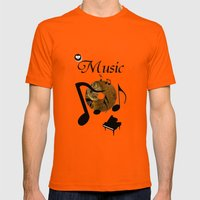 His Master's Voice Mens Fitted Tee Orange SMALL