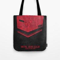 Metal Gear Solid Typogra… Tote Bag