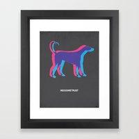 In Dog We Trust Framed Art Print