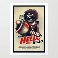 HELLO! HELLO! (white) Art Print