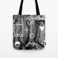 Our bones leave messages Tote Bag
