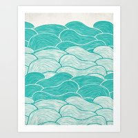 The Calm And Stormy Seas Art Print