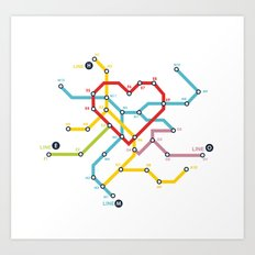 Home Where The Heart Is Art Print
