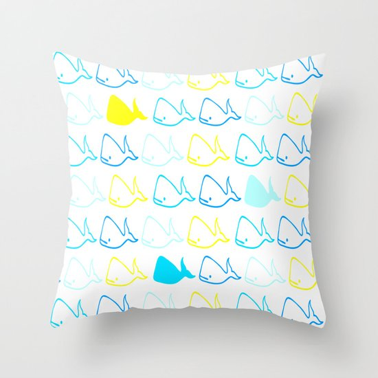 Whales 2 Throw Pillow
