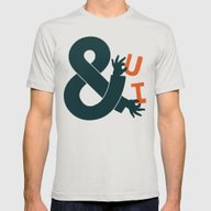 You And I Mens Fitted Tee Silver SMALL