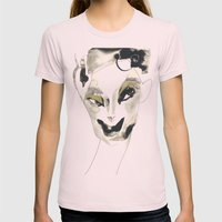 A Faint Smile Womens Fitted Tee Light Pink SMALL