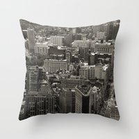 Old Downtown Throw Pillow