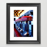 Nostalgic Diner Framed Art Print