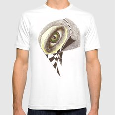 The Bird's Eye SMALL White Mens Fitted Tee