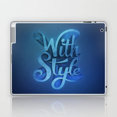 With Style! 3D Typography  Laptop & iPad Skin