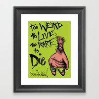 Patrick Star: Too Weird … Framed Art Print