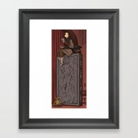 ....to find a way out! Framed Art Print
