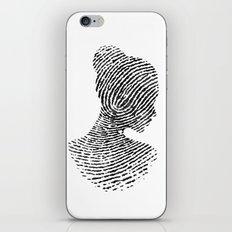 Fingerprint Silhouette P… iPhone & iPod Skin