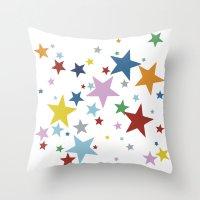 Stars Multi Throw Pillow