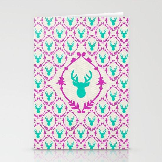 Oh Deer (teal) Stationery Card