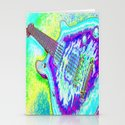 Neon Psychedelic Guitar Stationery Cards