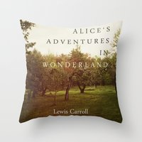 Alice's Adventures In Wo… Throw Pillow