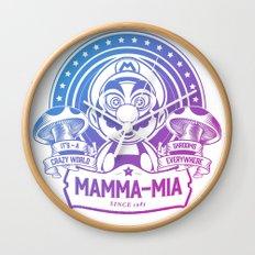 Mamma Mia Super Mario is-a Crazy Wall Clock