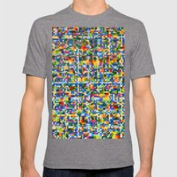 Dancing Star Detail Mens Fitted Tee Tri-Grey SMALL