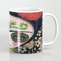 Frida The Catrina And The Devil - Dia De Los Muertos Mixed Media Art Mug