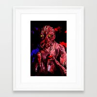 CRABFACE Framed Art Print