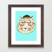 Rad Tiger Framed Art Print