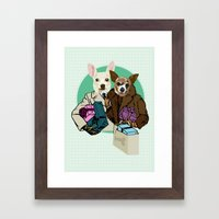 C & Y Shopping Chihuahua  style Framed Art Print