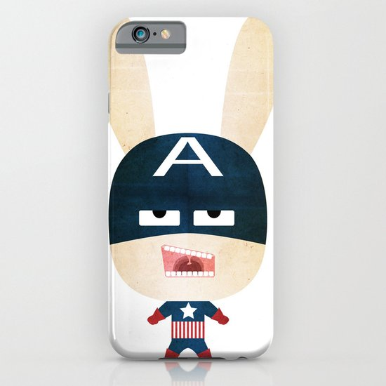 We are all rabbits \ Captain America  iPhone & iPod Case