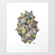 Green Spikes Art Print