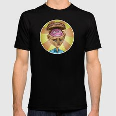Happy Brain SMALL Black Mens Fitted Tee