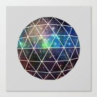 Space Geodesic Canvas Print